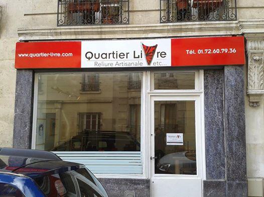atelier de reliure Quartier Livre-Paris