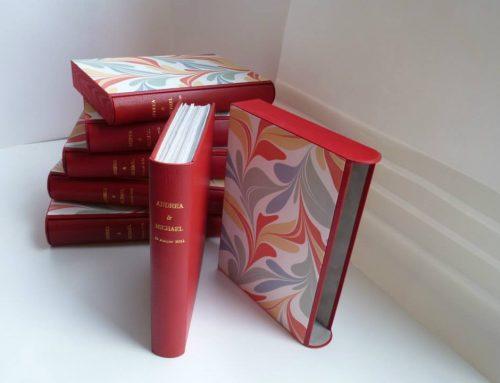 Reliure soignée – Livres de mariage et leurs  étuis