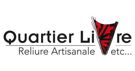 Quartier Livre Atelier de reliure Paris 14e Retina Logo