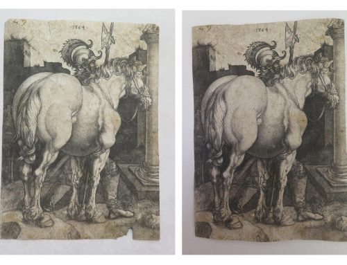 Restauration gravure de «Albrecht Dürer»