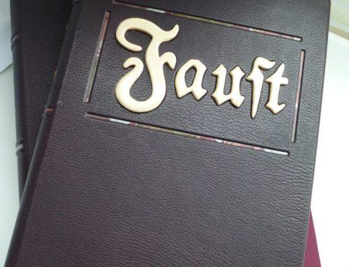 """Reliure d'art et coffret – """"Faust"""""""