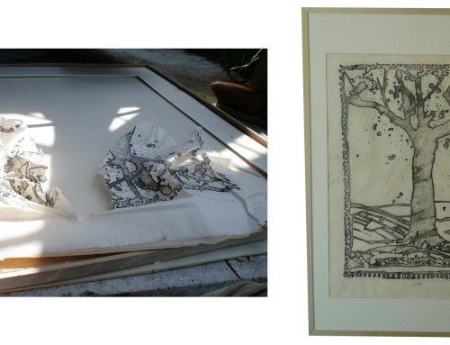"Restauration-gravure de ""Pierre Alechinsky"""